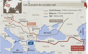 Carte pipeline Grece TAP Source - Le Figaro 28-06-2013